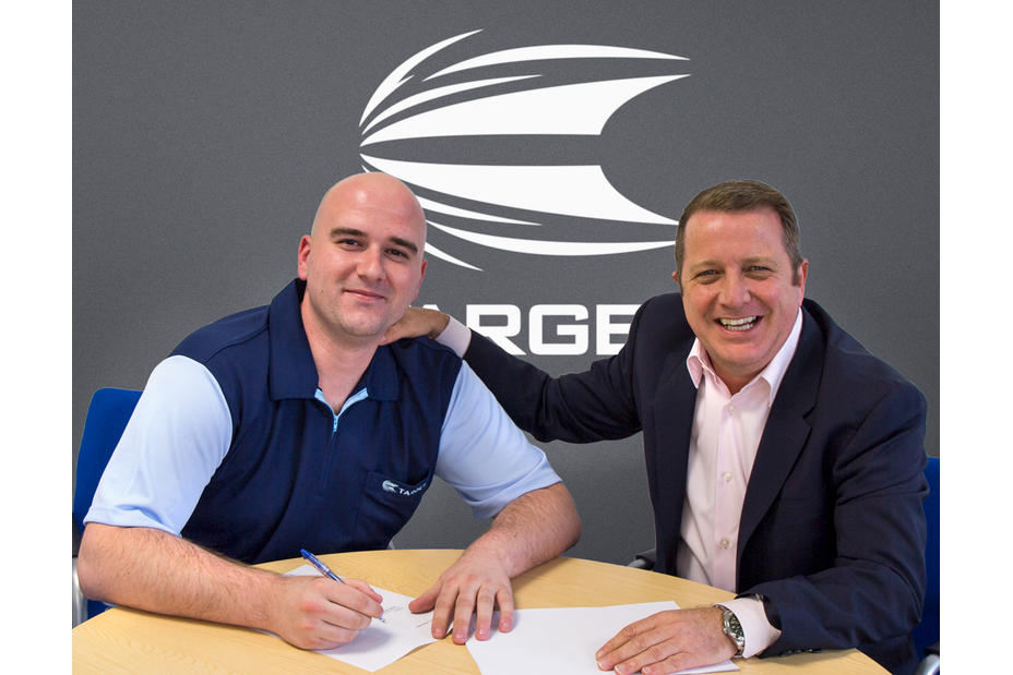Rob Cross Signing Target Darts Contract