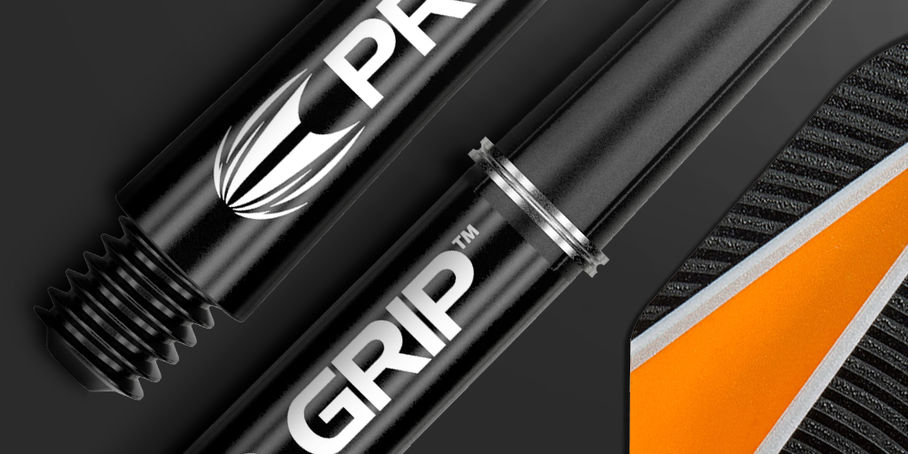 Pro Grip Black Shaft and Adrian Lewis Flight