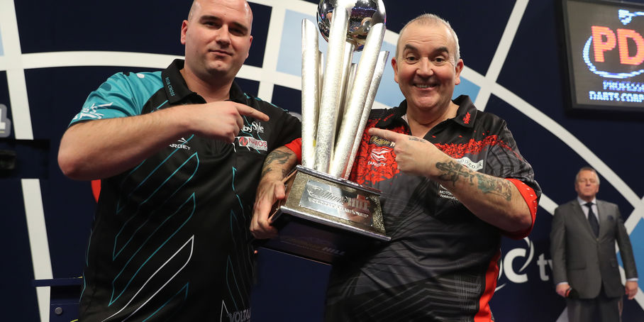 Rob Cross with Phil 'The Power' Taylor