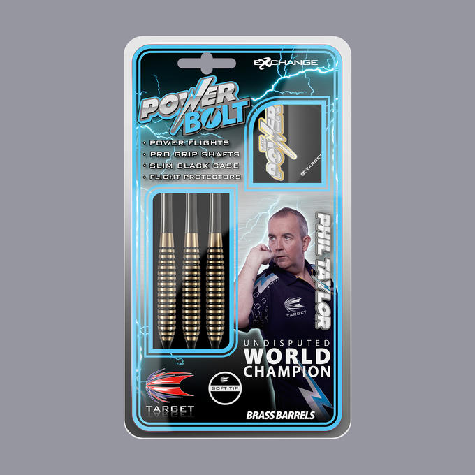 Phil Taylor Power Bolt Packaging Soft Tip