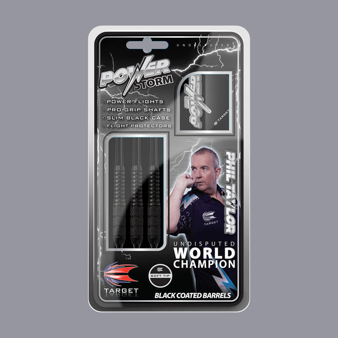 Phil Taylor Power Storm Soft Tip Packaging