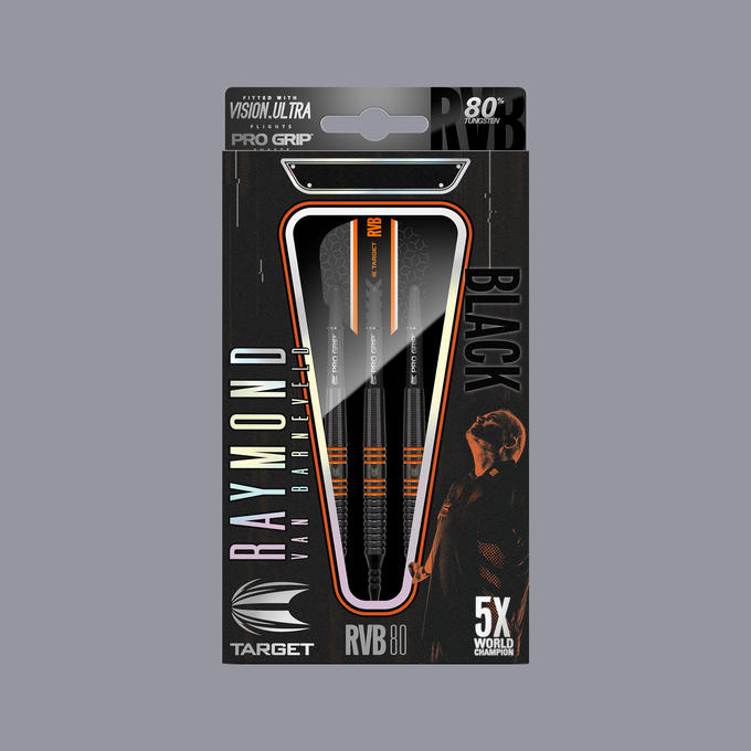 Raymond Van Barneveld RVB 80% Black Soft Tip Packaging