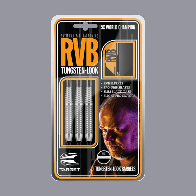 Raymond Van Barneveld RVB Tungsten Look Soft Tip Packaging