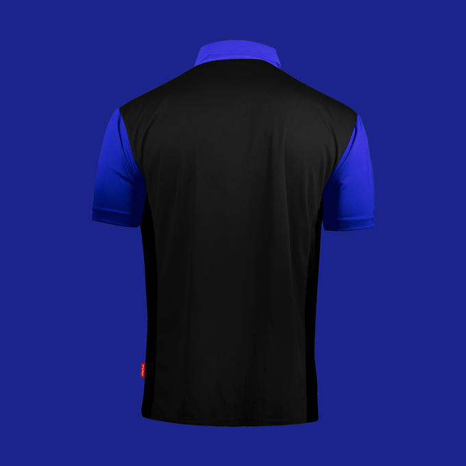 Coolplay Hybrid 2 Black and Blue Shirt - Back View