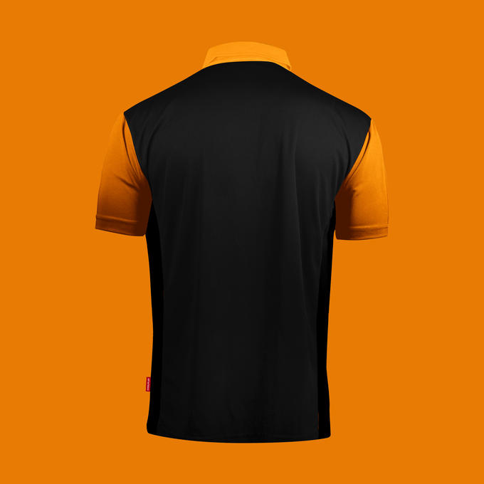Coolplay Hybrid 2 Black and Orange Shirt - Back View