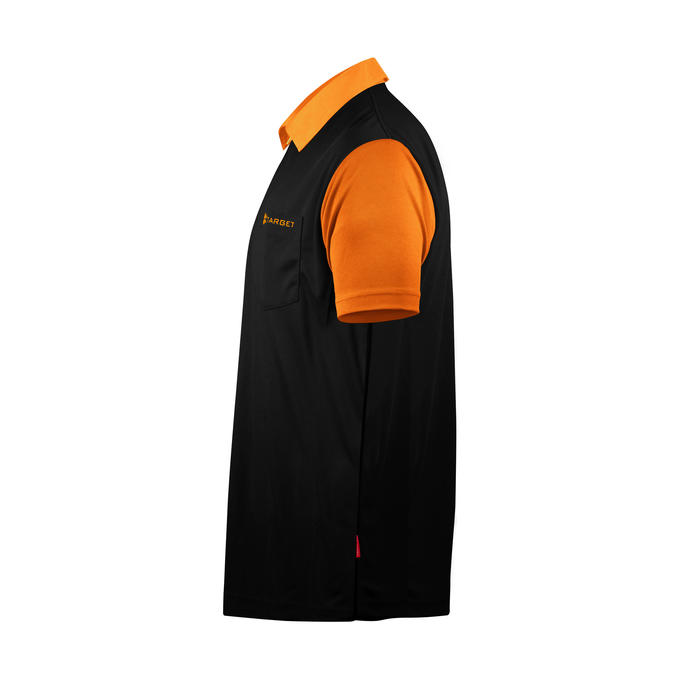 Coolplay Hybrid 2 Black and Orange Shirt - Side View