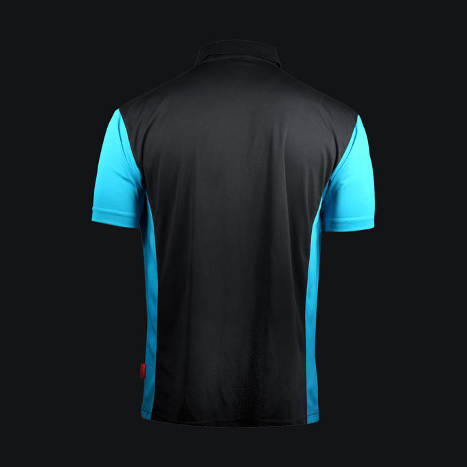 Coolplay Hybrid 3 Black and Aqua Shirt - Back View
