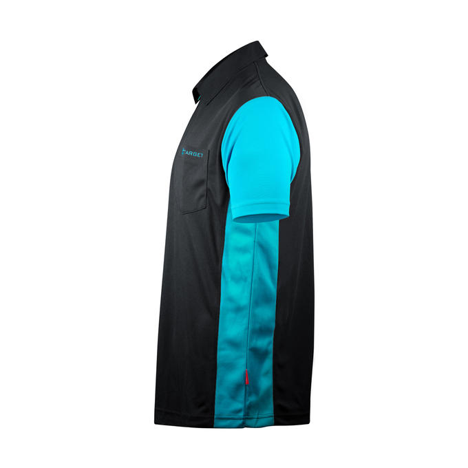 Coolplay Hybrid 3 Black and Aqua Shirt - Side View