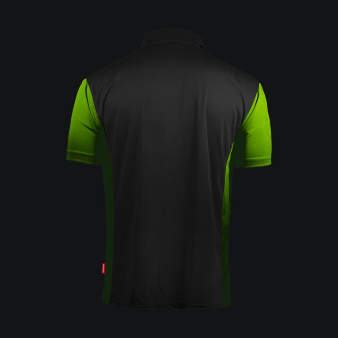Coolplay Hybrid 3 Black and Green Shirt - Back View