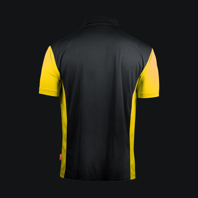 Coolplay Hybrid 3 Shirt Black & Yellow - Back View