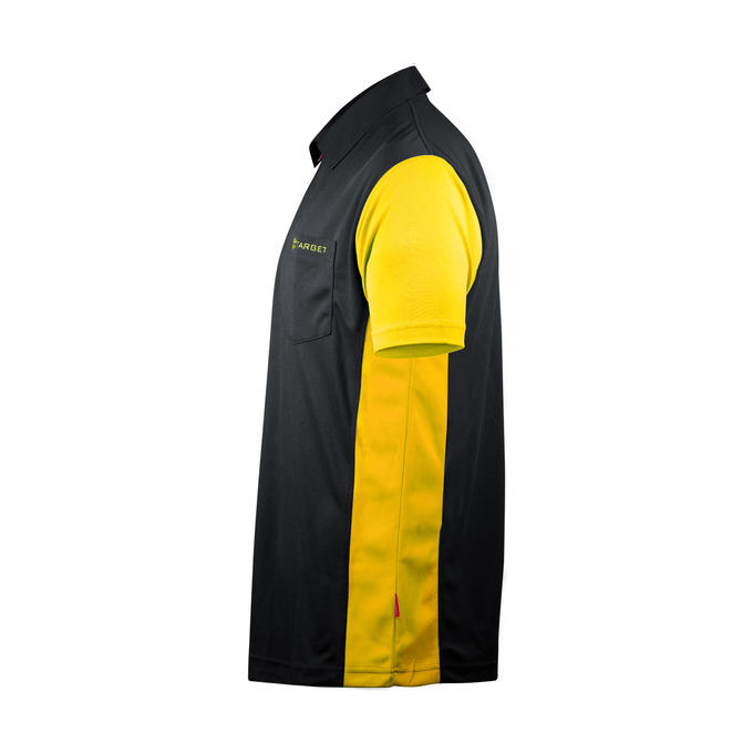 Coolplay Hybrid 3 Shirt Black & Yellow - Side View