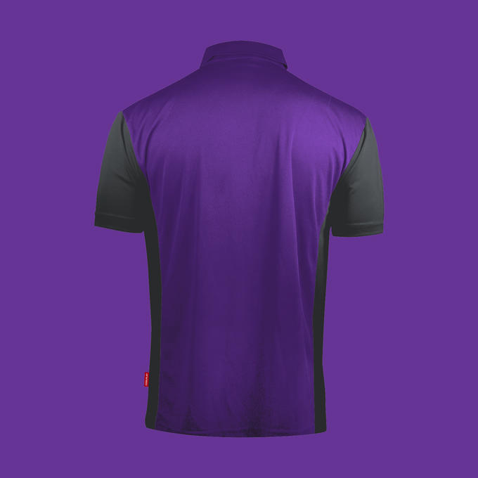 Coolplay Hybrid 3 Shirt Purple & Grey - Back View