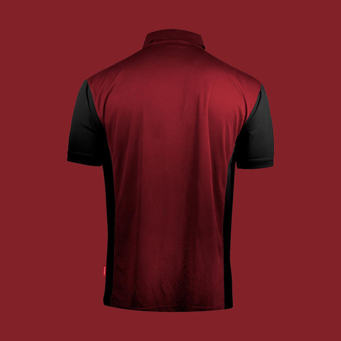 Coolplay Hybrid 3 Shirt Ruby & Black - Back View