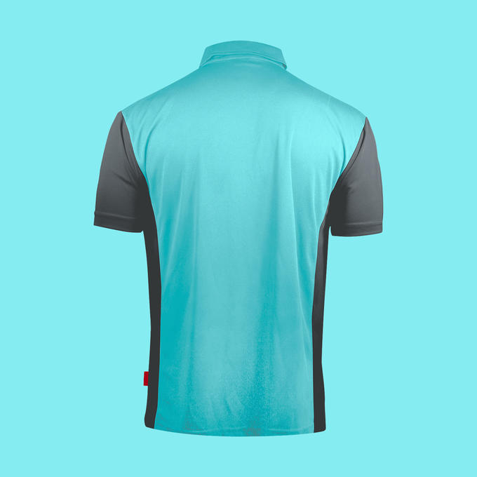 Coolplay Hybrid 3 Shirt Sky Blue & Grey - Back View