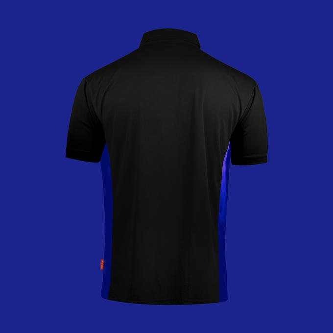 Coolplay Hybrid Shirt  Black & Blue - Back View