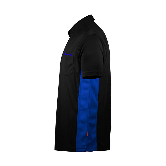 Coolplay Hybrid Shirt  Black & Blue - Side View