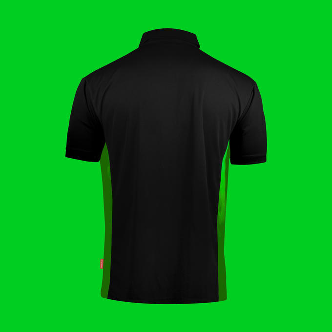 Coolplay Hybrid Shirt - Black & Green - Back View