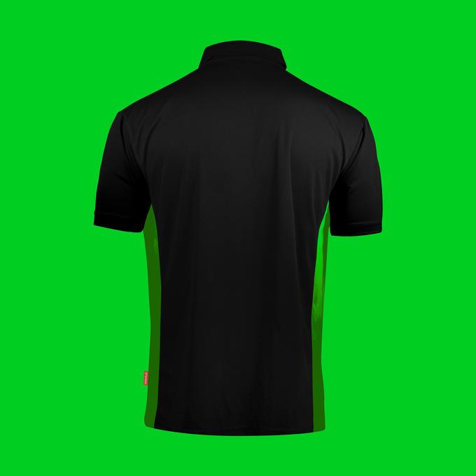 Coolplay Hybrid Shirt - Black & Green - Back View