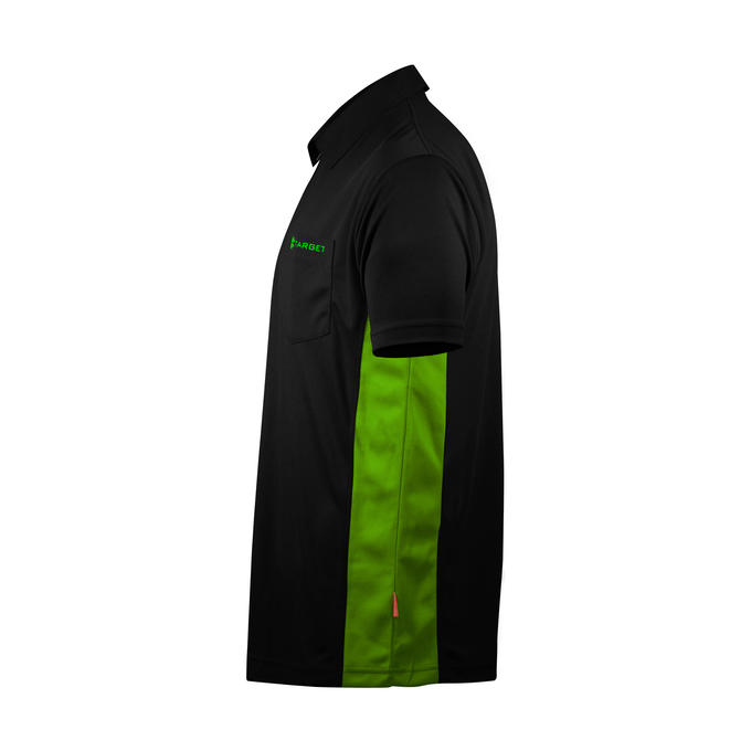 Coolplay Hybrid Shirt - Black & Green - Side View