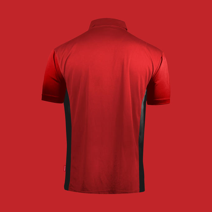 Coolplay Hybrid Shirt Red & Black - Back View