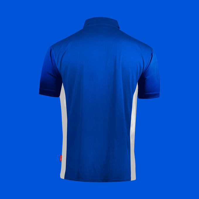 Coolplay Hybrid Shirt Blue & White - Back View