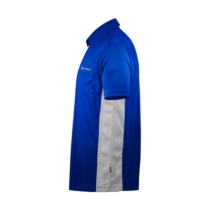 Coolplay Hybrid Shirt Blue & White - Side View