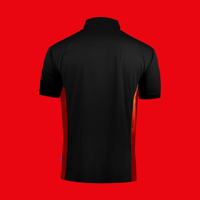 Coolplay Hybrid Shirt Black & Red - Back View
