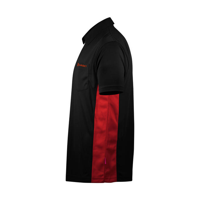 Coolplay Hybrid Shirt Black & Red - Side View