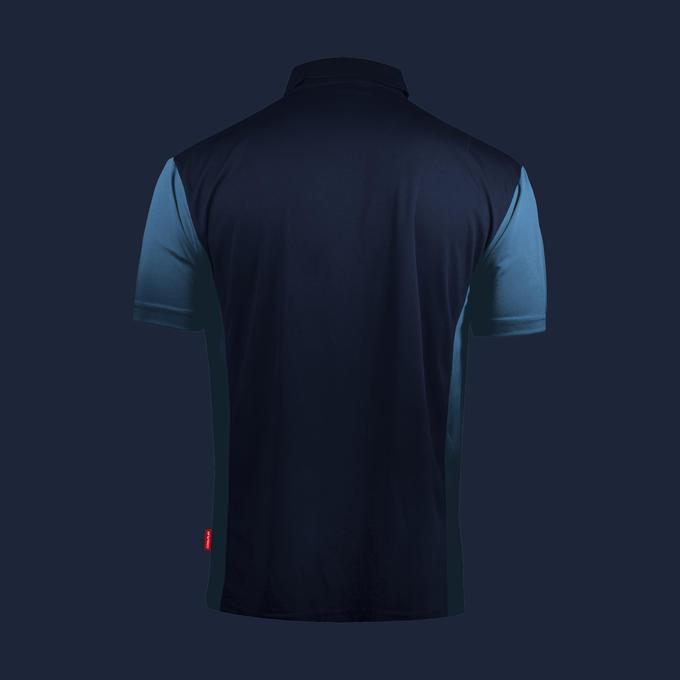 Coolplay Hybrid 3 Shirt - navy Blue & Light Blue - Back View