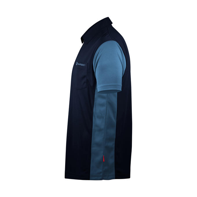 Coolplay Hybrid 3 Shirt - navy Blue & Light Blue - Side View