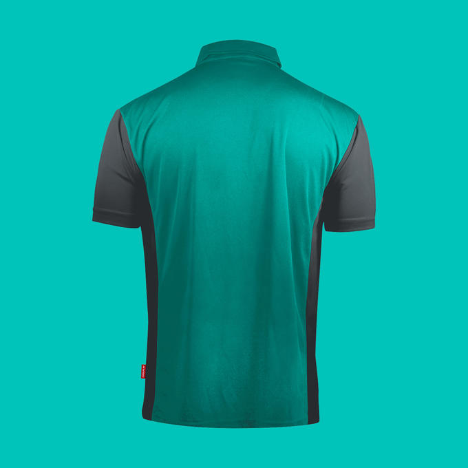 Coolplay Hybrid 3 Shirt - Turquoise & Grey - Back View