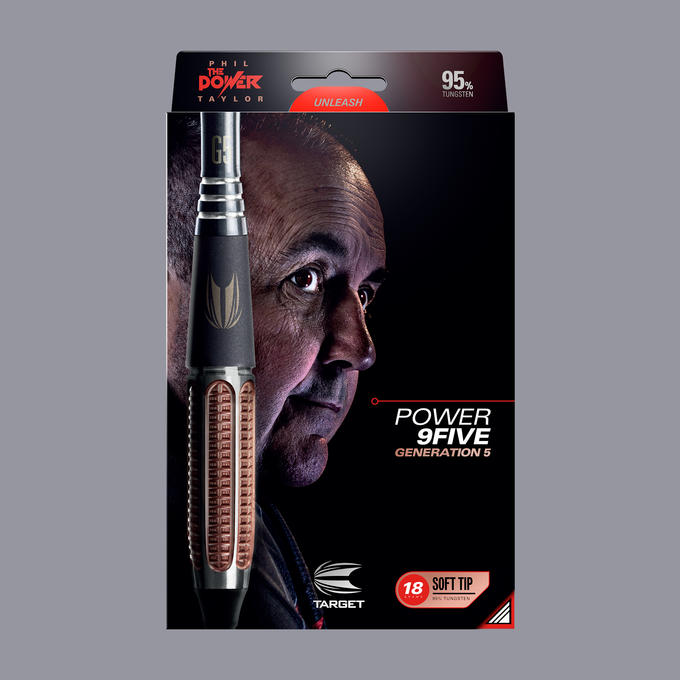 Phil Taylor Power 9-Five Gen 5 Soft Tip Packaging