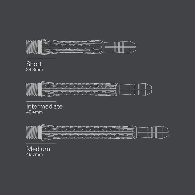 Cortex Titanium Shaft Blue size diagrams