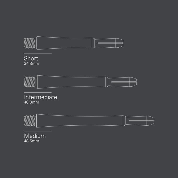 Grip Style Aluminium Shaft Blue length Diagram