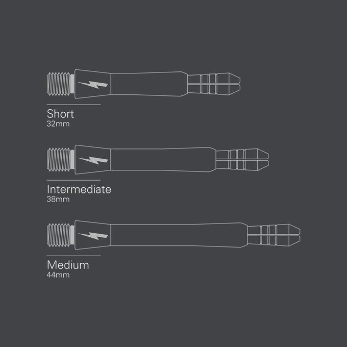 Phil Taylor Power Titanium Gen 2 Shaft Length Diagram