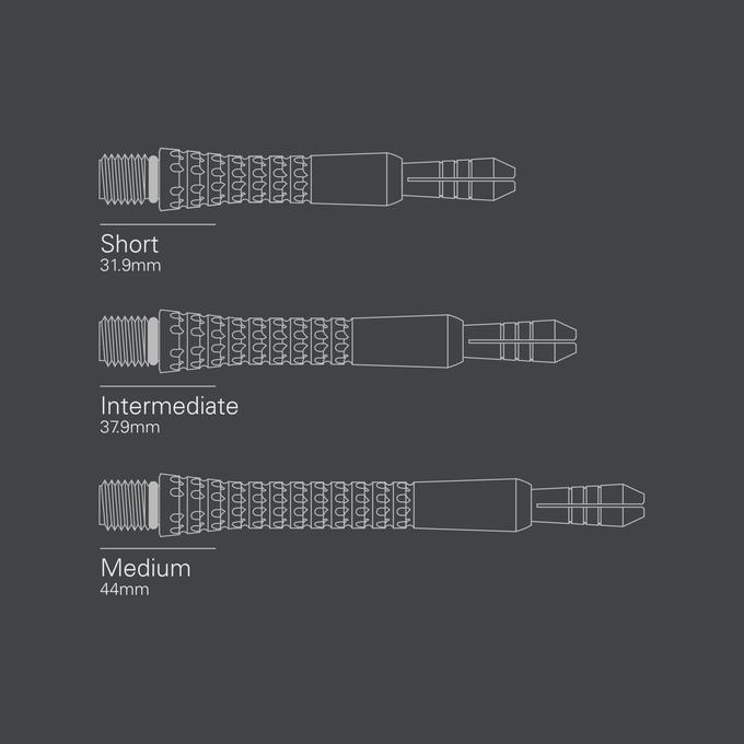 Pixel Grip Titanium Shaft Black Length Diagram