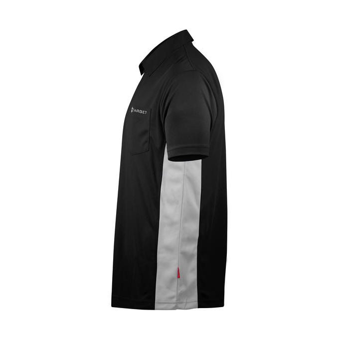Coolplay Hybrid Shirt - Black & White - Side View