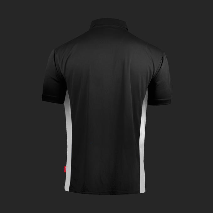 Coolplay Hybrid Shirt - Black & White - Back View
