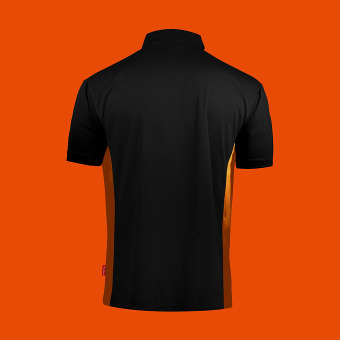 Coolplay Hybrid Shirt - Black & Orange - Back View