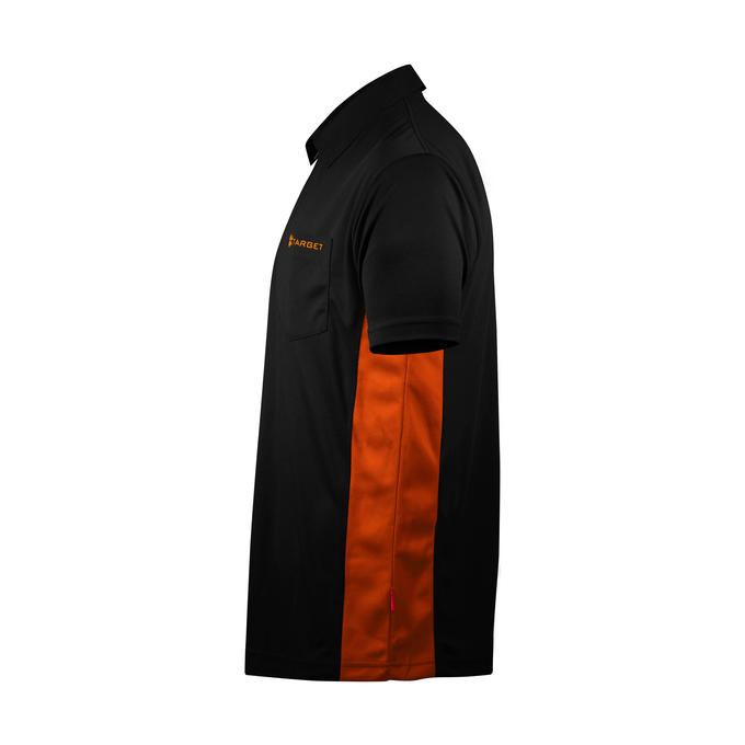 Coolplay Hybrid Shirt - Black & Orange - Side View