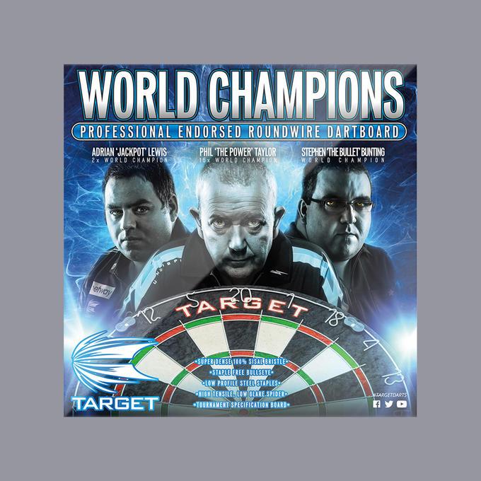 World Champions Dartboard Box Cover