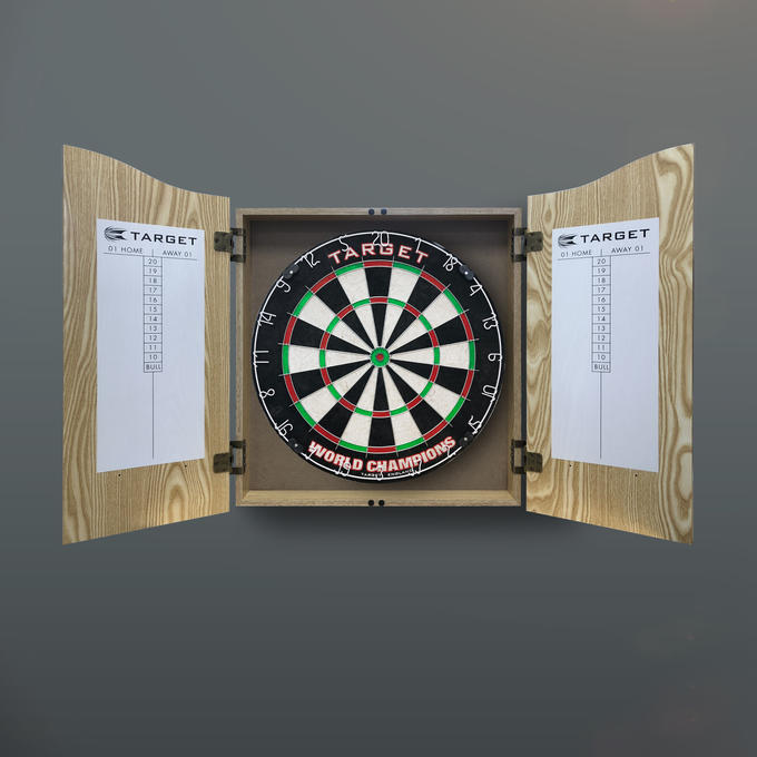 World Champions Dartboard Home Cabinet