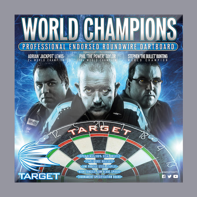 World Champions Dartboard Home Cabinet Set Box Cover