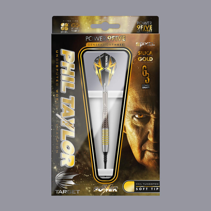 Phil Taylor Power 9-Five Gen 3 Soft Tip Packaging