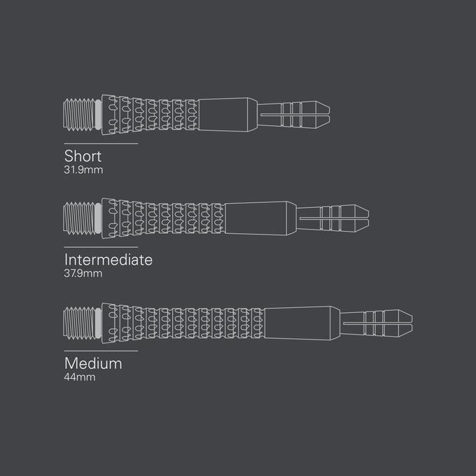 Pixel Grip Titanium Shaft Chrome - length diagram