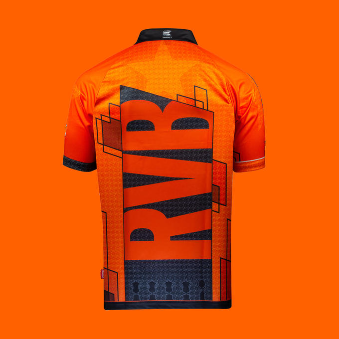 Official Raymond Van Barneveld Gen 2 Playing Shirt - Back View
