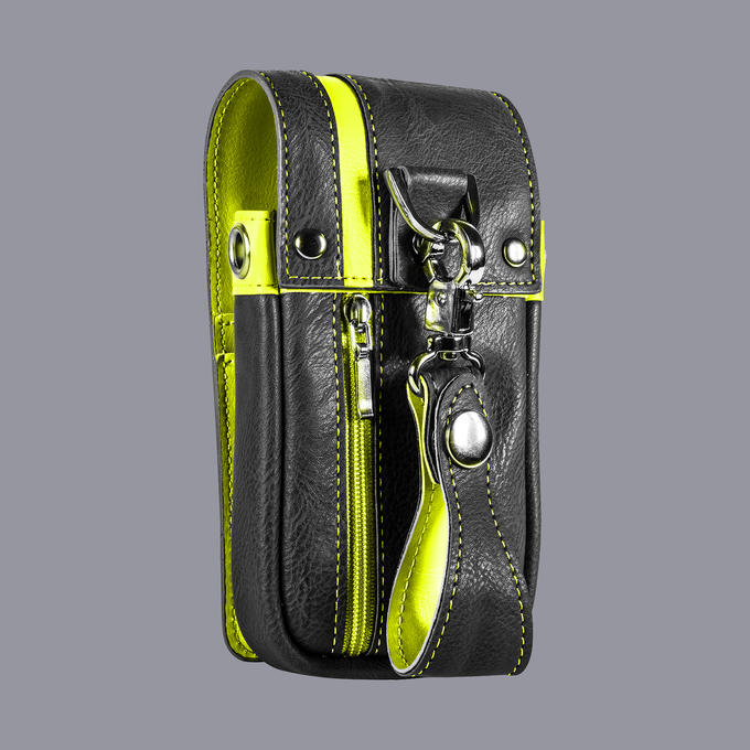 Daytona Wallet - Black with Yellow Strip