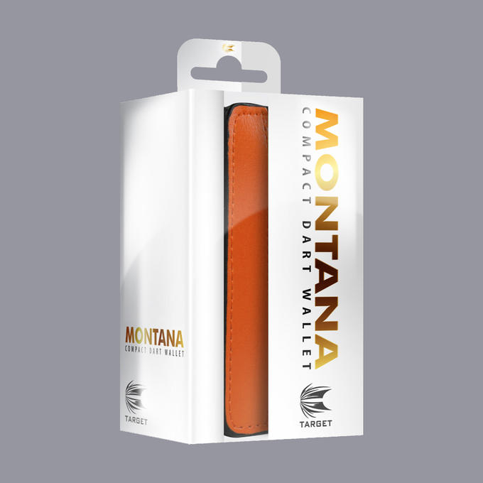 Montana Wallet - Black with Orange Strip Packaging