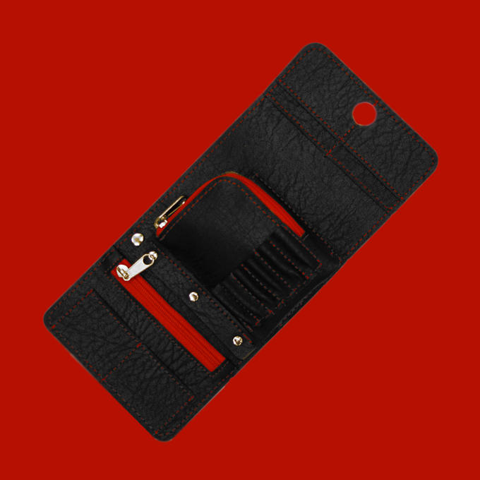 Montana Wallet - Black with Red Strip - Contents