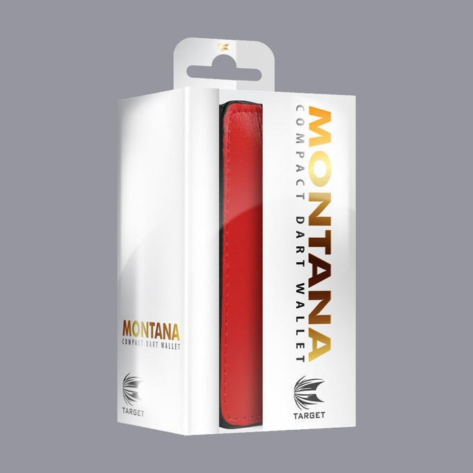 Montana Wallet - Black with Red Strip Packaging